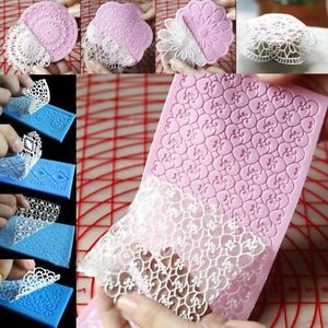Lace Silicone Mold Mould Sugar Craft Fondant Mat Cake Decorating Baking Pop.HLUS