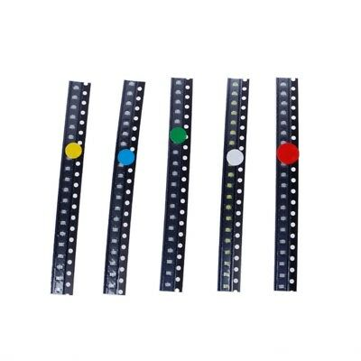 100 Pcs 5 Colors Smd 0805 Led Light Red Green Blue Yellow White Assotment Kit