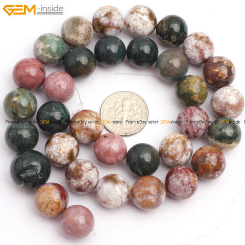 What Color Is Onyx Gemstone : Round mixed color ocean agate onyx gemstone jewelry making
