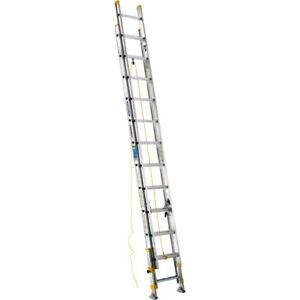 24 ft Type I Aluminum D-Rung Equalizer Extension Ladder