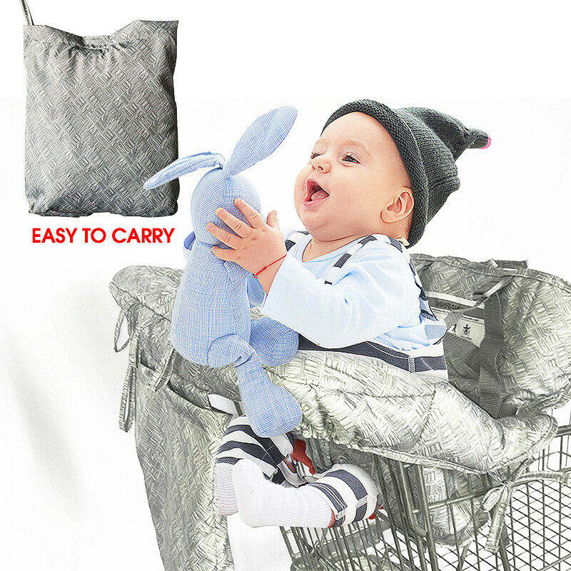 Kid Baby Child Shopping Trolley Cart Cover Seat High Chair Protective Pad Mat