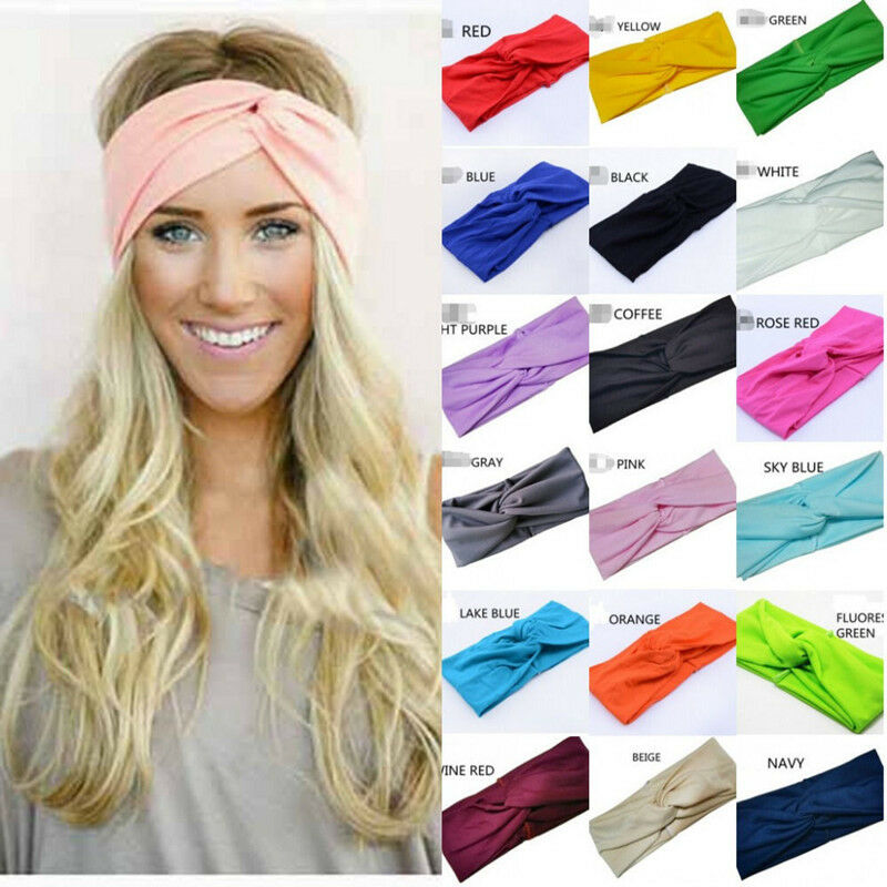 New Women Cotton Turban Twist Knot Head Wrap Headband Twisted Knotted Hair Band