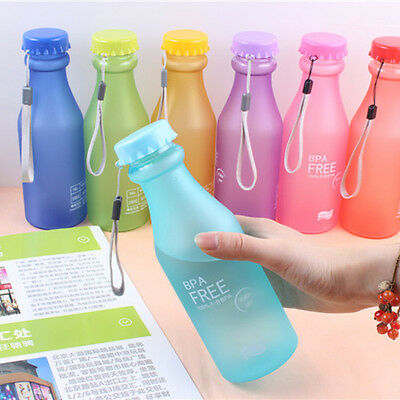 Fashion Color Portable Leak-proof Sports Travel Water Bottle Cup Cycling Camping