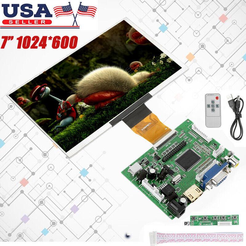7 Inch 1024x600 For Raspberry Pi 3 b+ Screen HDMI LCD Displa