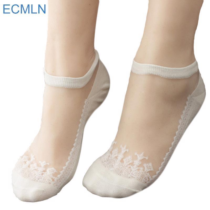 Women Summer Cute Harajuku Print Cat Socks Invisible Sock Slip-resistant Socks