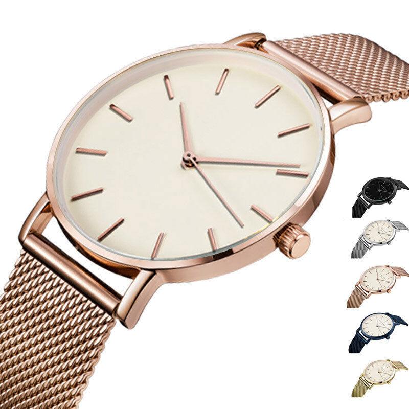 $4.29 - Elegant Watch Women Men Lady Luxury Brand Quartz Movement Watch Steel AMS NYC