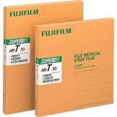 Hru 810 Fuji Green X-ray Film 8 X 10 New Box Of 100 Sheets