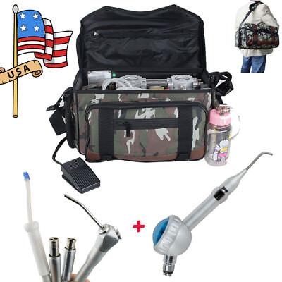 Portable Dental Turbine Unit Bag Compressor Suction System Syringe Air Polisher