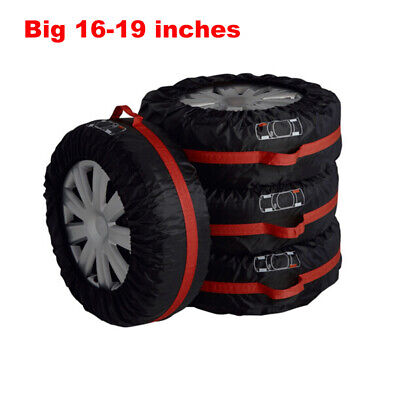 4pcs Big Car Spare Tire Cover Case Polyester Winter Summer Car Tires Storage Bag