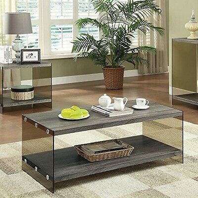 $135.45 - Coaster 701968 Home Furnishings Coffee Table- Weathered Grey NEW