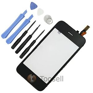 Touch Screen Glass Digitizer Assembly with Mid frame For iPhone 3GS Black US
