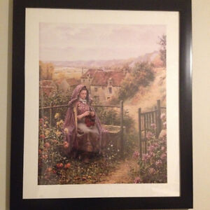 limited addition print D.R.Knight 'sewing in the garden'