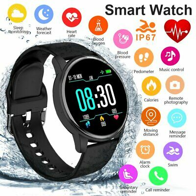 Touch Smart Watch Women Men Heart Rate Bracelet For iPhone Android Waterproof UK