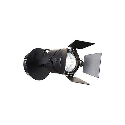 Aplique Spot Moderno A 1 Luz Negro Orientable Con Aletas Colección Ciak