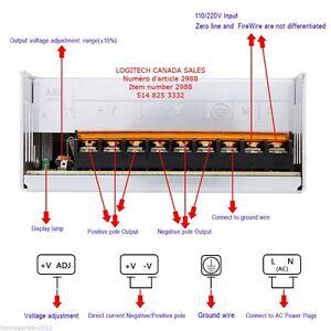 AC110-220V to DC 12V High Power Supply LED Strip Switch Driver T