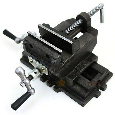 4 Cross Slide Drill Press Vise Clamp 2-way Vises New Bench Top Holder Clamping