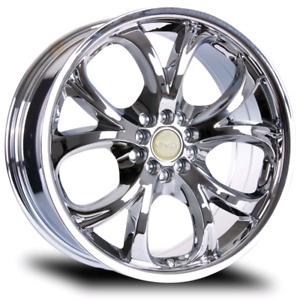"Set of Chrome RTX Torsion 20"" Wheels Bolt 6x139.7"