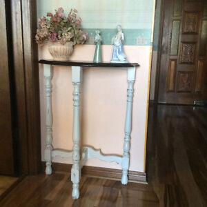 Half moon hall table
