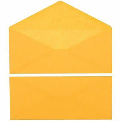 Juvale 50-pack 14 V-flap Manila Business Checks Envelopes 120gsm Paper 11.5x5