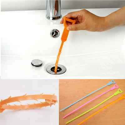 Plastic Drain Clog Cleaner Sink Plumbing Cleaning Small Clean Tool With Hook Cnd
