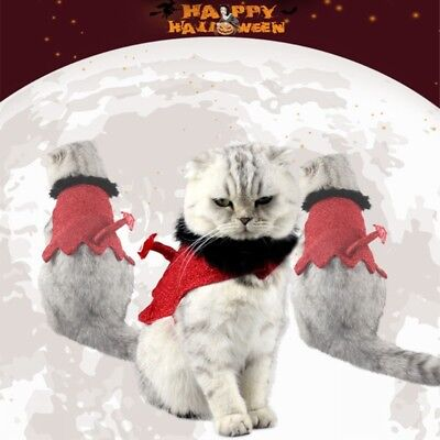 Pet Cat Dog Halloween Cloak Clothe Little Devil Tail Dress Costume Outfit 50 (Devil Dog Pet Costume)