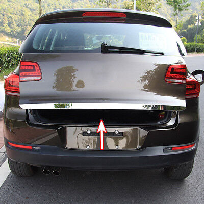 Fit For VW Tiguan Rear Trunk Boot Door Cover Garnish Trim Tailgate Molding Strip ()