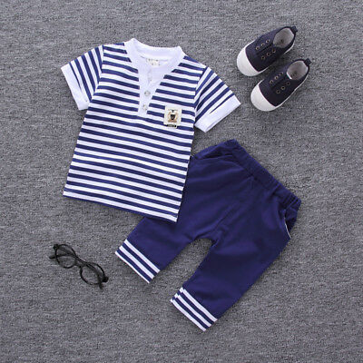 DIIMUU Baby Boy Clothes Kids Boys Clothing Suits Outfits Sets T-shirt + Pants - Suits Outfits
