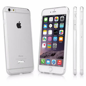 iPhone 6, 6 plus Dustproof Ultra Thin Transparent Silicone Case