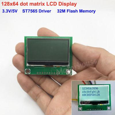 128x64 12864 Dot Matrix Cog Graphic Lcd Display Module Screen Lcm St7565 Driver