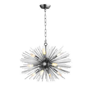 Black Urchin Sputnik Satellite Starburst Modern Glam Chandelier