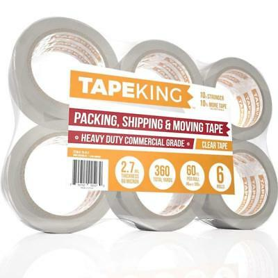 Tape Packing Clear-60 Yards Per Roll(6 Refill Rolls)2 Inch Wide Stronger 2.7mil