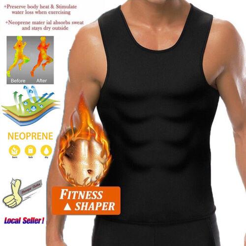 Men Neoprene Body Shaper Sauna Thermo Sweat Gym Slim Corset Vest Waist Trainer!