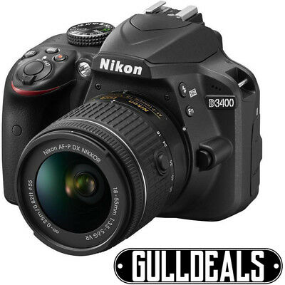 NEW Nikon D3400 + AF-P 18-55mm VR Black Digital SLR Camera and Lens Kit UK SHIP