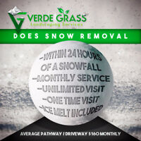 Residential Snow Removal services starting at $99