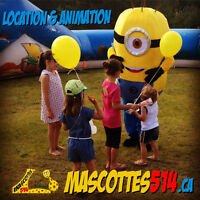 MASCOTTE MASCOT animation fête enfant + Location Rent MINION etc