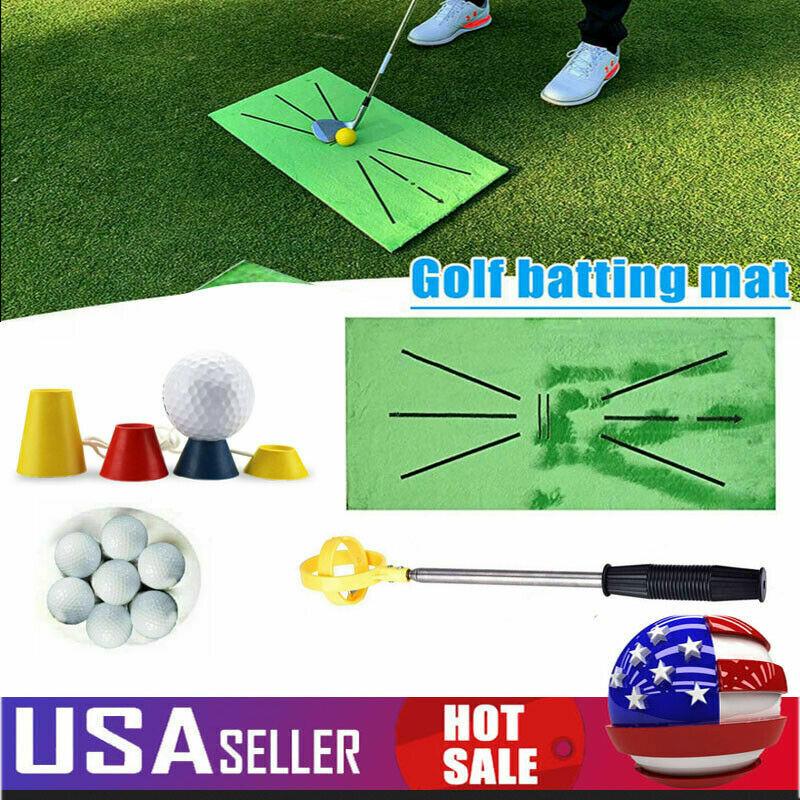 Accustrike Golf Training Mat Swing Detection Batting Golf Practice Aid Training