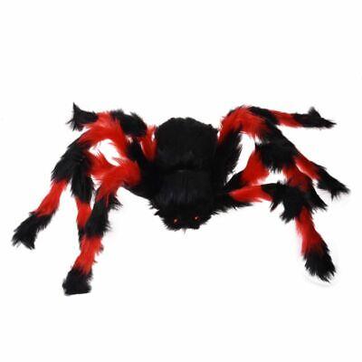 75cm grosse Spinne Pluesch-Spielzeug / Halloween-Dekor - Rot und Schwarz M4L5