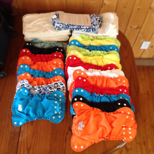 AppleCheeks Cloth diapers Full time kit, both sizes