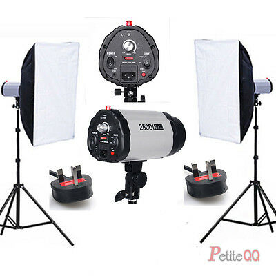 Photo Studio Flash Lighting Kit Strobe head Light stand Softbox Soft box Local