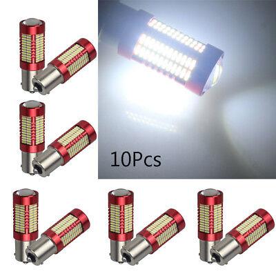 10x White 1156 4014 BA15S 106 LED Bulb Brake Parking Lamp 9~28V 1900LM Hot Sell ()