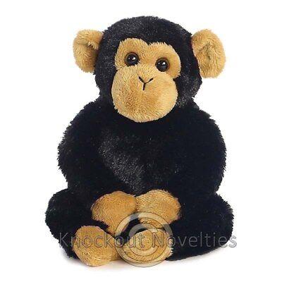 Clyde - Chimp Aurora Plush Stuffed Animal Toy Cute Cuddly Monkey 8 Inches Ape - Cute Monkey Stuffed Animal