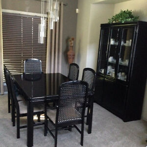 MUST SELL - Black Oak Dining Room Suite and Hutch/Buffet