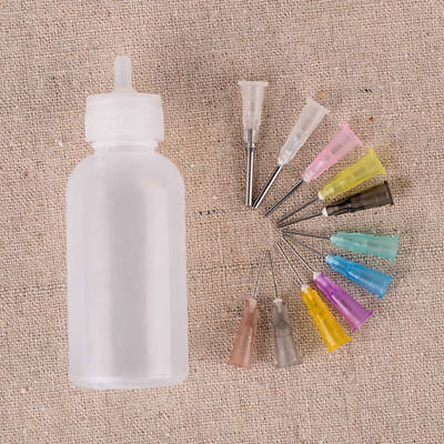 30ml Needle Dispenser Bottle For Rosin Solder Soldering Liquid Flux 11 Needles