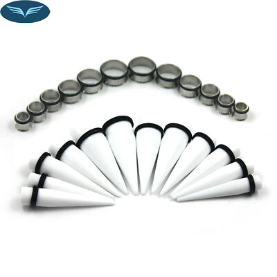 Best Quality Ear Stretching Kit Plugs & Tapers Set 24× Big Gauges 00G-20MM