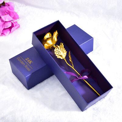 Wedding Flowers Gold - 24K Foil Plated Rose Gold Rose Wedding Decoration Flower Valentine's Day Gift