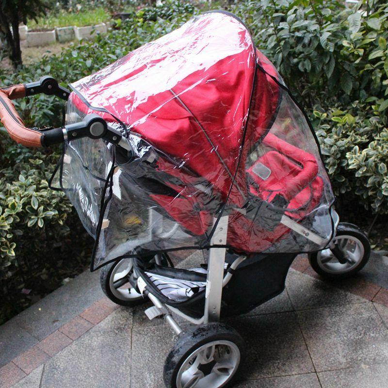 Universal Buggy Pushchair Stroller Pram Clear Transparent Rain Cover Shield Baby