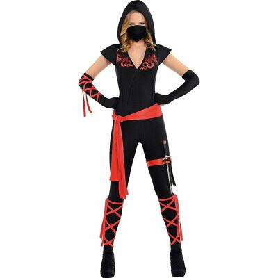 Dragon Fighter Ninja Halloween Costume Women, Medium size 6-8 NIP