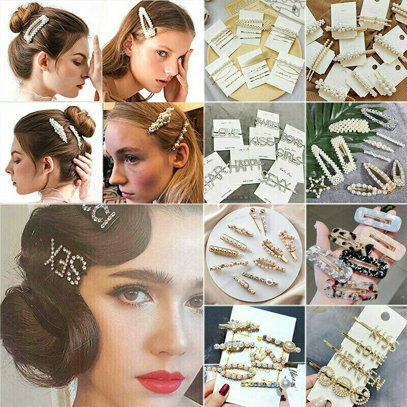 Fashion Pearl Metal Hair Clip Hairband Comb Bobby Pin Barret