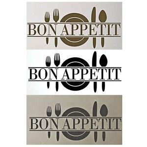 Bon appetit art sticker salle manger cuisine vinyl d coration m - Stickers salle a manger ...