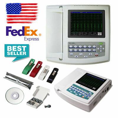 Us Digital Electrocardiograph 12 Channel 12 Lead Ecg Ekg Machine Softwarece Fda